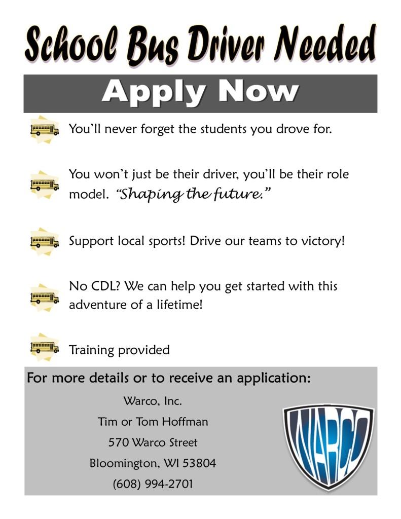 Apply Now School Bus 2015 Universal