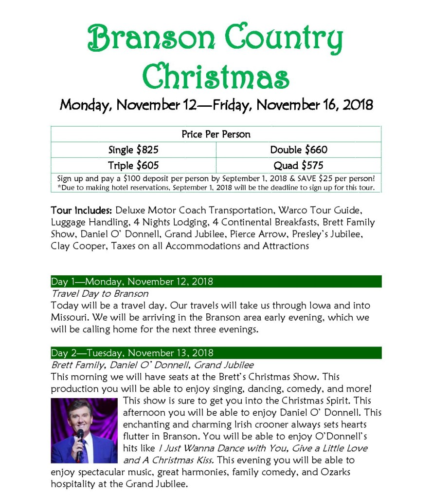 Branson Country Christmas Nov2018 Itinerary-page-001