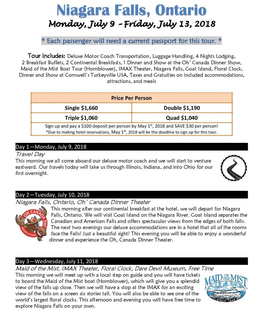 Niagara Falls Itinerary July2018-page-001